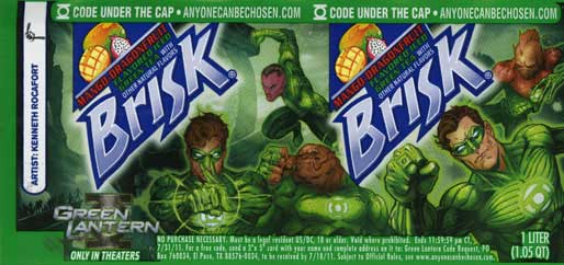 Green Lantern bottle label