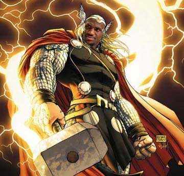Lebron as Thor
